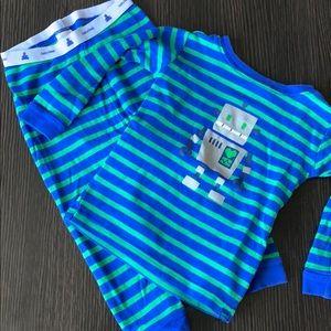 Baby Gap Robot Pajamas sz 18-24 mo
